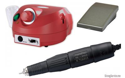 Аппарат Marathon Escort II PRO NAIL/H37LN 35000 об/мин с педалью красный
