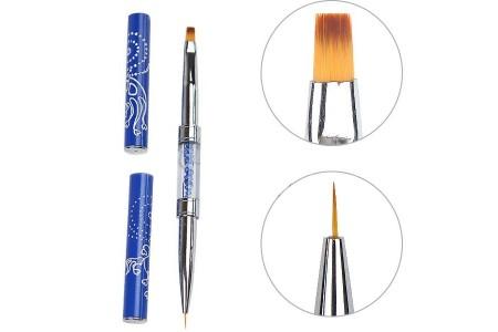 BQAN BLUE COMBO кисть для дизайна ногтей и наращивания