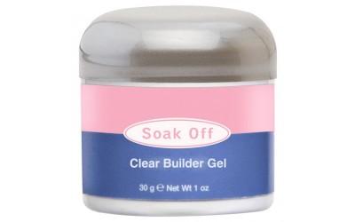 IBD Soak Off Clear Builder Gel, 30 г. - прозрачный конструирующий гель SOAK OFF