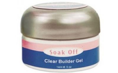 IBD Clear Soak Off Builder Gel, 14 г. - прозрачный конструирующий гель SOAK OFF